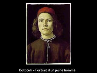 Botticelli : Portrait d'un jeune homme
